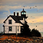 Maine Nature Photography—Lighthouse Scene